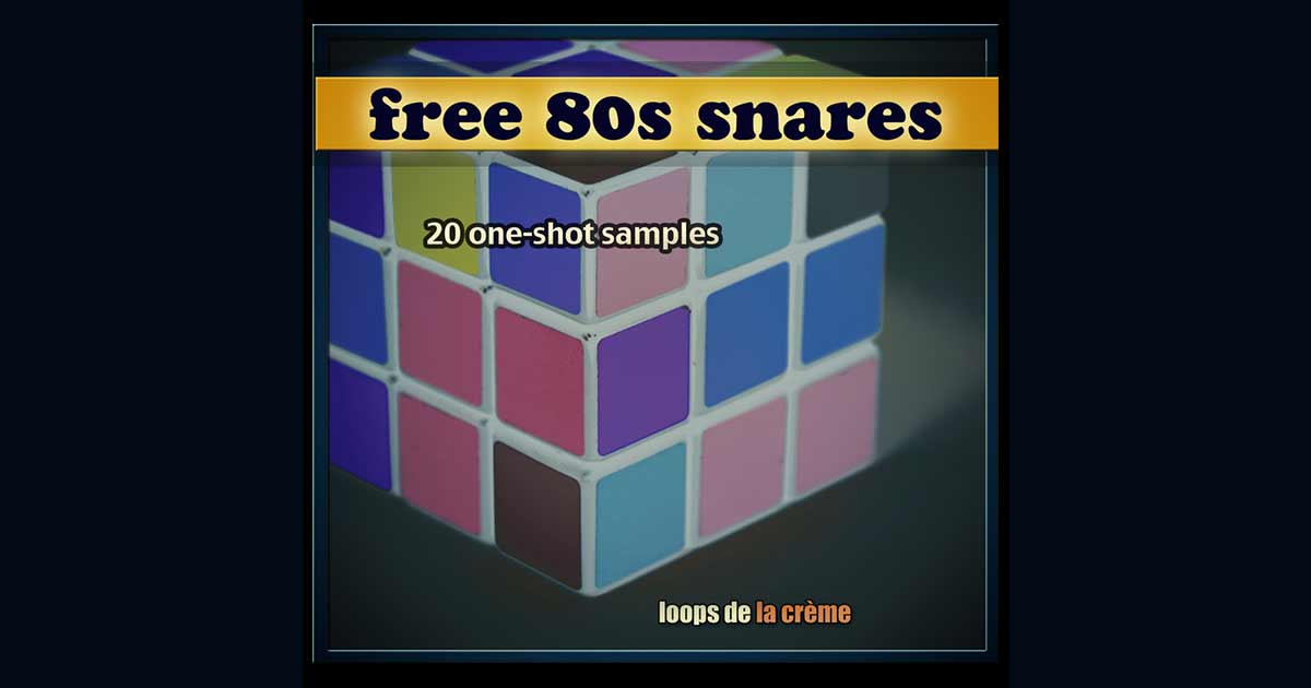 20 Free 80s Snares From Loops De La Crème | Free Sample Packs