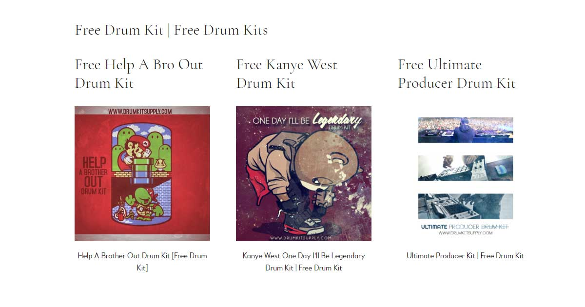 Drumkit Supply - Free Drum Kit Samples | Free Sample Packs