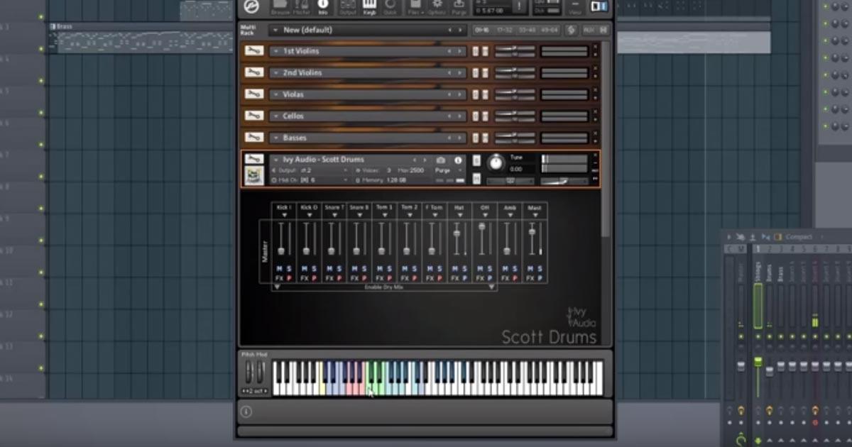 Ivy Audio - Scott Drums For Kontakt - Free Sample Packs