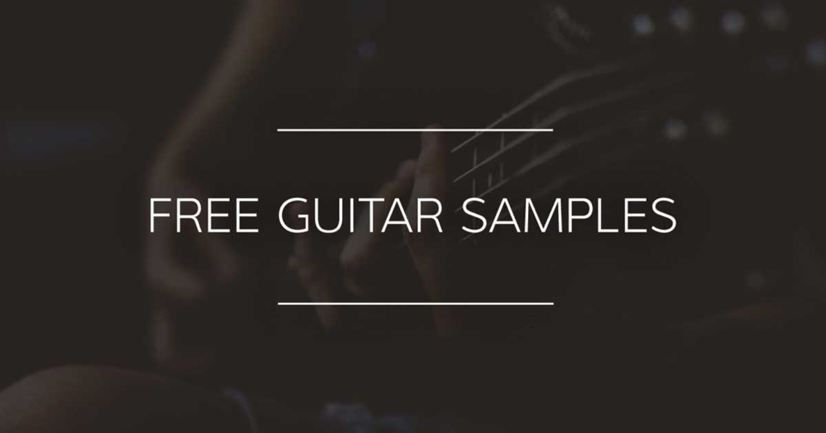 free guitar samples from alienvibez