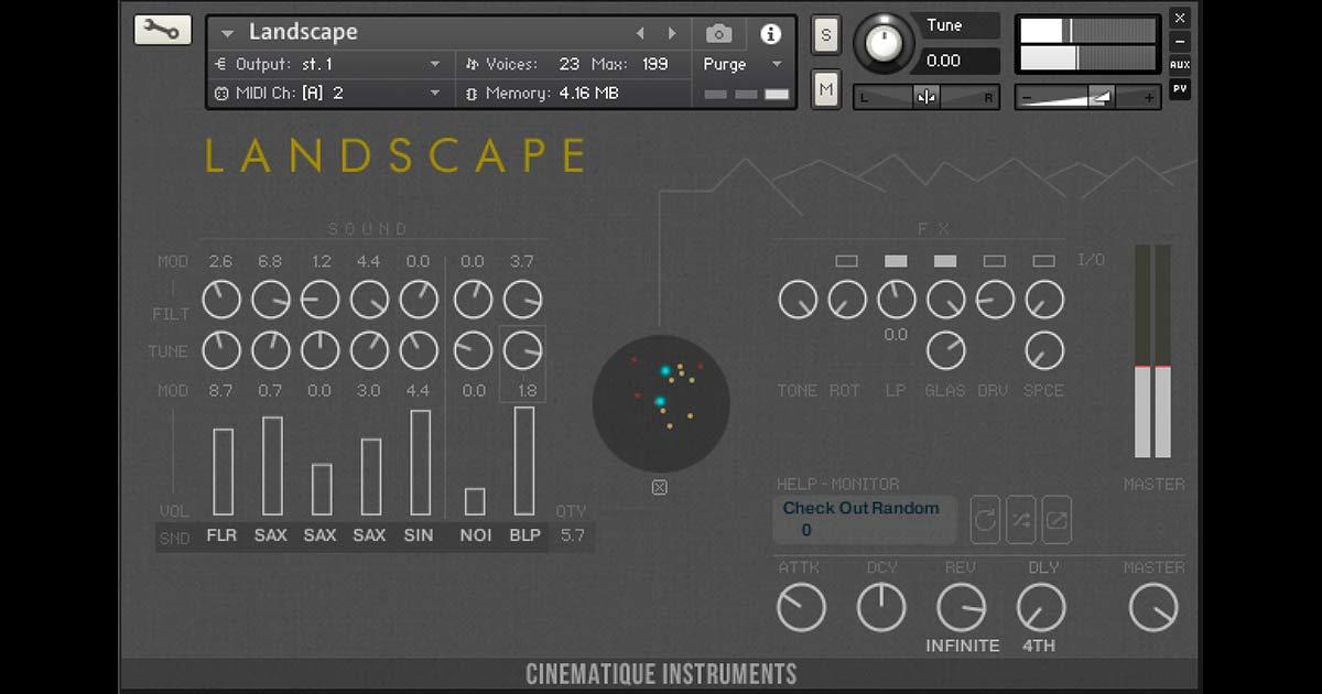 Cinematique Instruments - Landscape For NI Kontakt