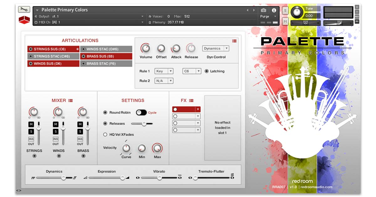 Redroom Audio - Palette Primary Colors | Free Sample Packs