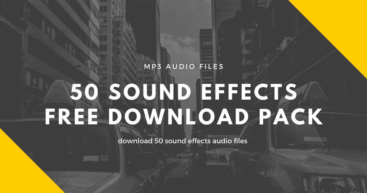 50 Free Sound Effects | Free SFX Samples | Free Sample Packs