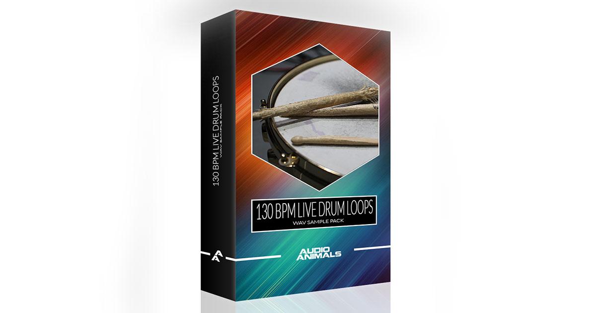 Audio Animals - 130 BPM Live Drum Loops | Free Sample Packs