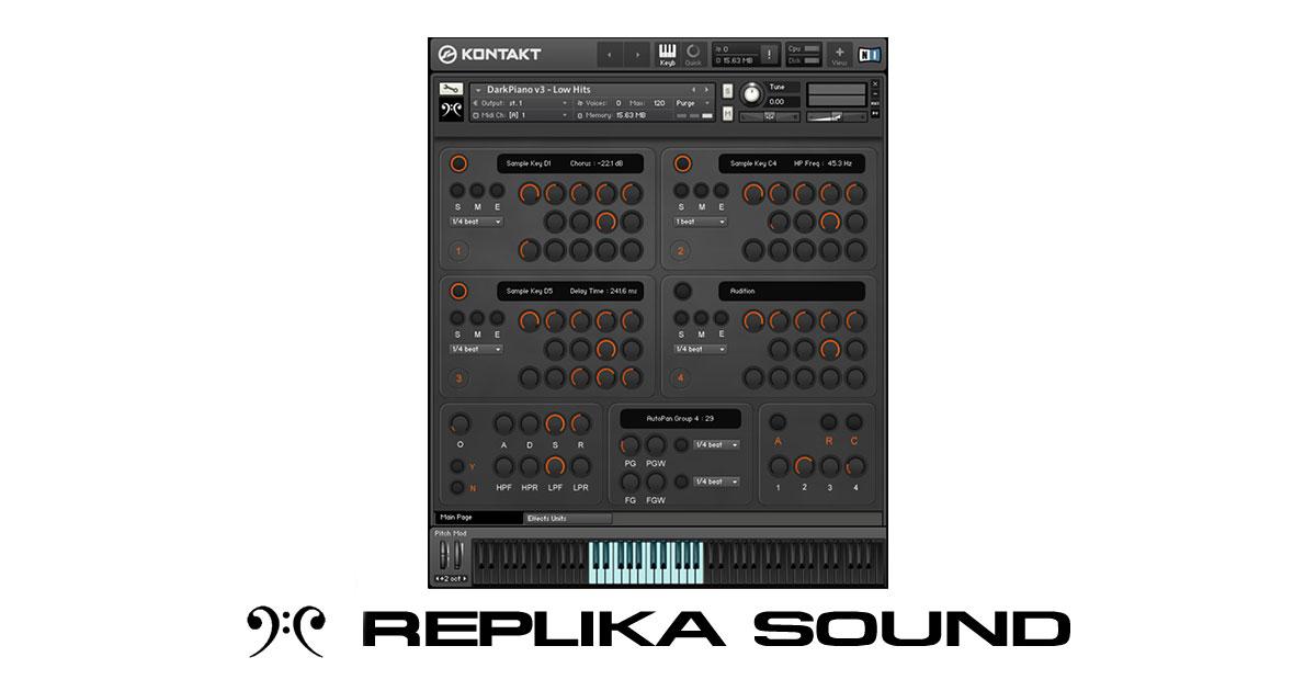 Replika Sound RSSD01 Dark Piano For Kontakt