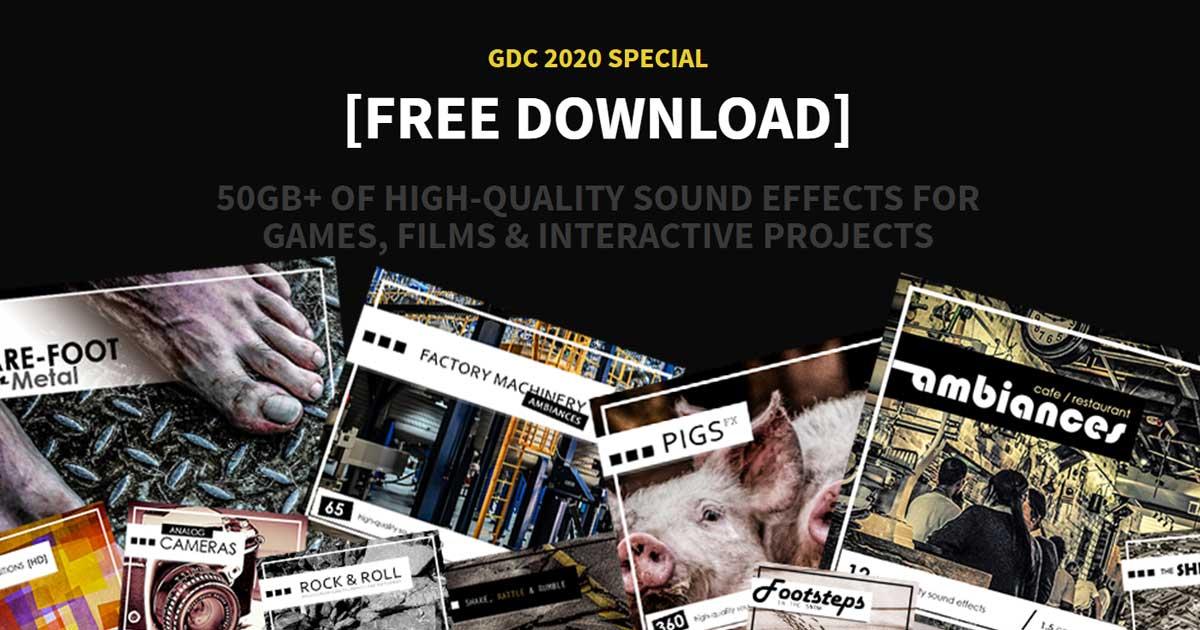Game Audio GDC Bundle 2020 - 50gb FX Bundle