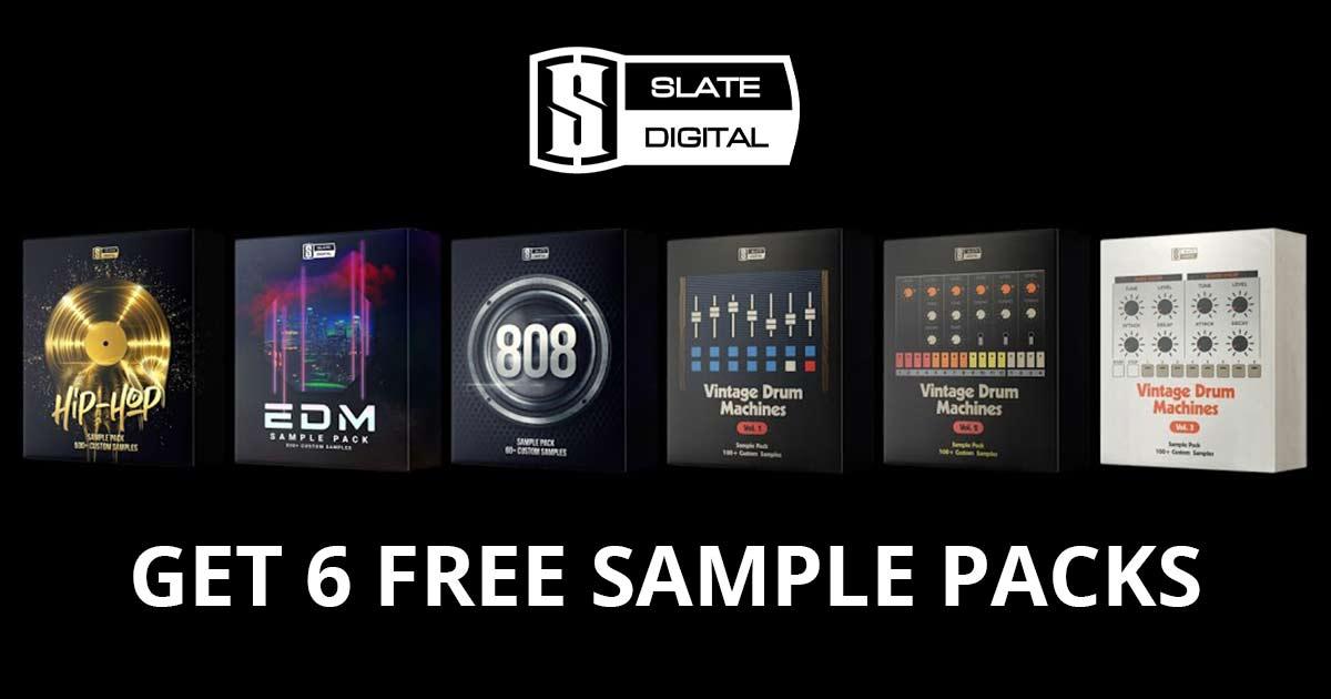 Download 6 Free Slate Digital Sample Packs Now